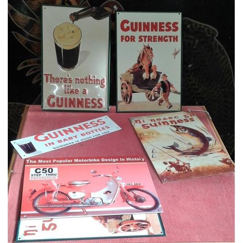 126 - Five Reproduction '<em>Guinness</em>' Signs...