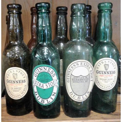 133 - Collection of Nine Old <em>Guinness</em> Bottles...