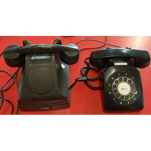 134 - Two Vintage Bakelite Telephones...