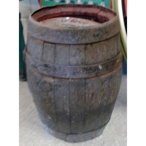 144 - <em>B. & C. Cork</em> Wooden Beer Barrel - c. 21ins tall...