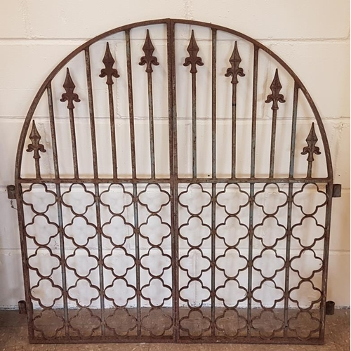 152 - Pair of Forge Made Altar Gates - overall c. 40 x 39.5ins...