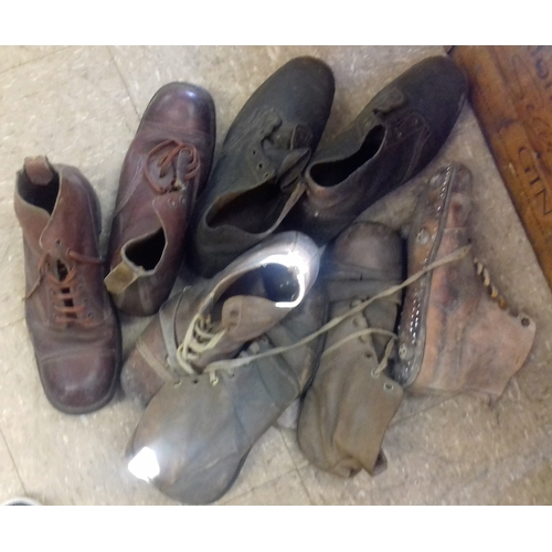 160 - Collection of Hobnail Boots and Others...