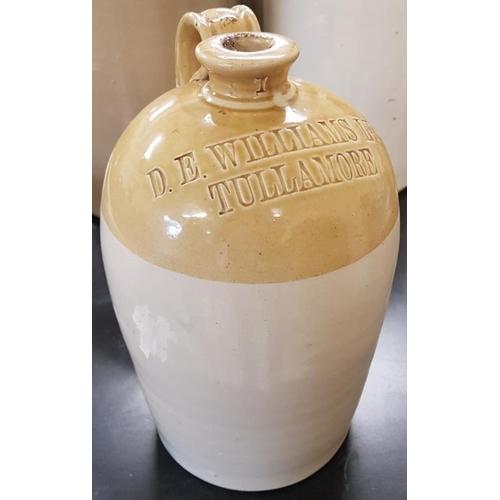 171 - <em>'D. E. Williams Ltd., Tullamore</em>' 1-Gallon Stoneware Whiskey Jar...