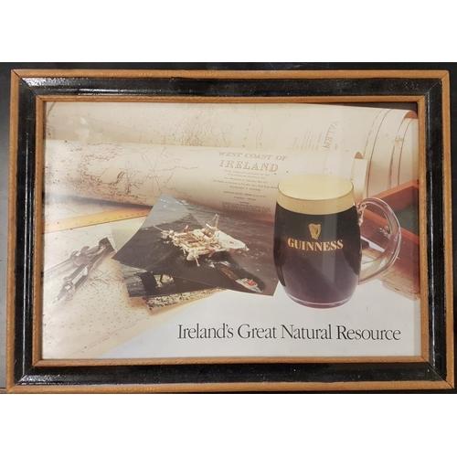 410 - Framed '<em>Guinness - Ireland's Great Natural Resource</em>' Advertising Sign - 27.5 x 20ins...