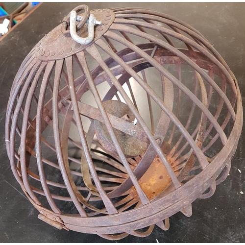 467 - Rare Ships Hanging Oil Lamp...