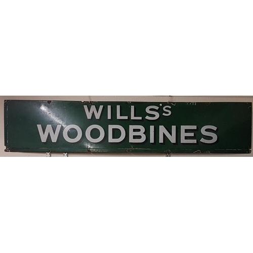 479 - Original <em>Wills's Woodbines</em> Enamel Advertising Sign, c.72 x 15in...