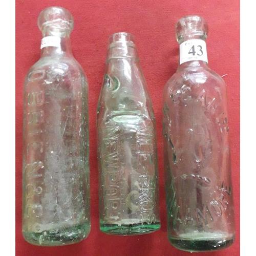 43 - <em>P & H Egan, Tullamore, Bile Bros., Newport</em> and <em>O'Brien Co. Dublin</em> Bottles (3)...