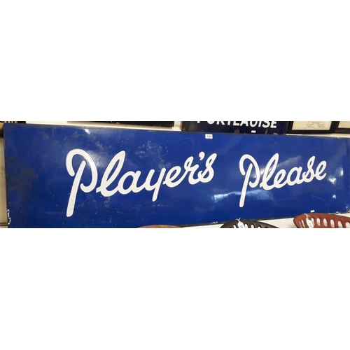 104 - <em>'Player's Please'</em> Enamel Advertising Sign - 72 x 18ins...
