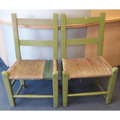 113 - Two Irish Country Rope Seat
