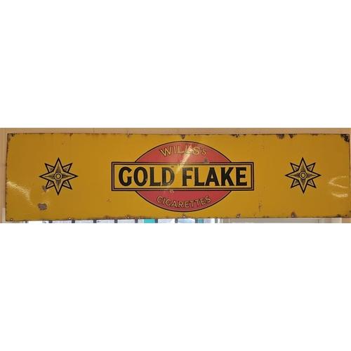 428 - <em>Wills's Gold Flake Cigarettes</em> Enamel Advertising Sign, c.72 x 18in...