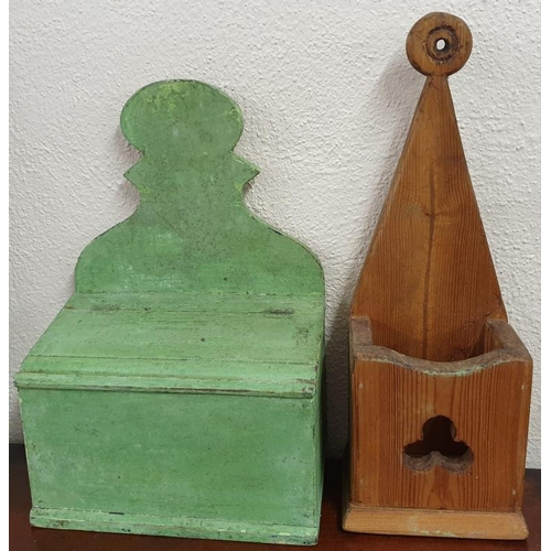 39 - Painted Pine Candle Box and a Pine Salt Box...