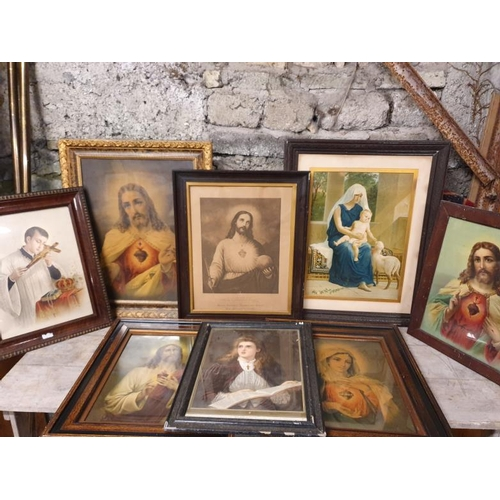 26 - Collection of Eight Religious Interest Pictures...