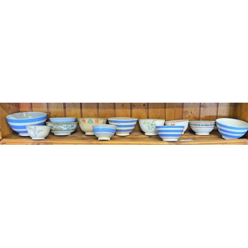 37 - Collection of Twelve Bowls (Spongeware and Others)...