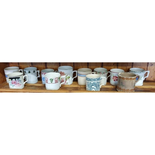 38 - Twelve Mugs (Spongeware/Others)...