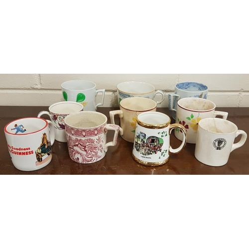 22 - Collection of Ten Mugs including Spongeware, etc....