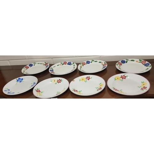 28 - Eight Irish Spongeware Arklow Dresser Plates...