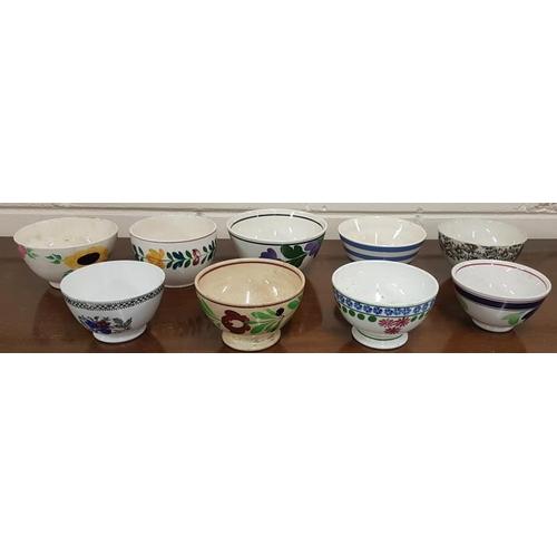 29 - Collection of Nine Bowls including Spongeware...