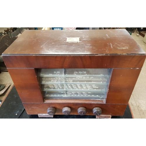 97 - Vintage HMV Wooden Case Radio...