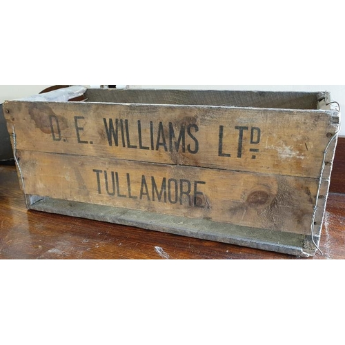 176 - <em>D. E. Williams Ltd. Tullamore</em> Wooden Bottle Crate...