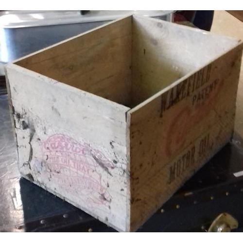 182 - Wakefield Castrol Oil Wooden Bottle Crate...