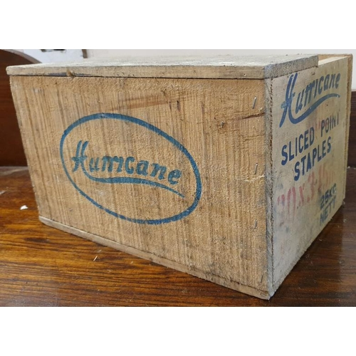 185 - <em>Hurricane Sliced Point Staples</em> Wooden Crate...