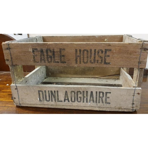 187 - <em>Eagle House Dun Laoghaire,</em> Wooden Bottle Crate...