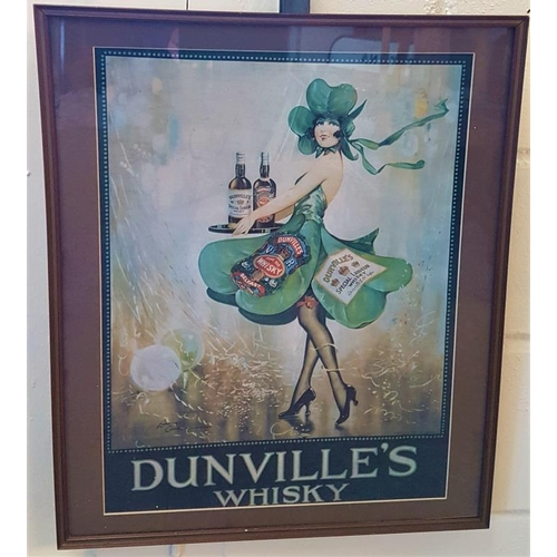 202 - Dunville's Whisky Framed Advertising Sign, c.20.5 x 24.5in...