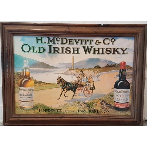 203 - McDevitt's Whisky Card Advertising Sign, c.28 x 20.5in...