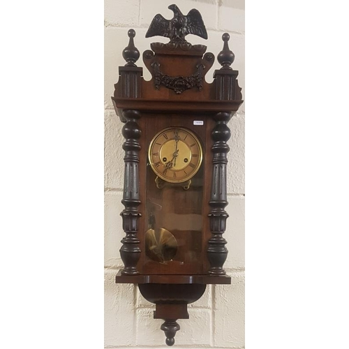 281 - Vienna Style Spring Driven Wall Clock (working)...