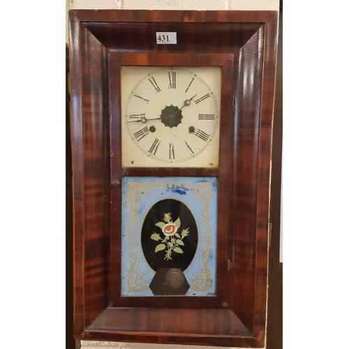 457 - Jerome Wall Clock, c.15.5 x 26in...
