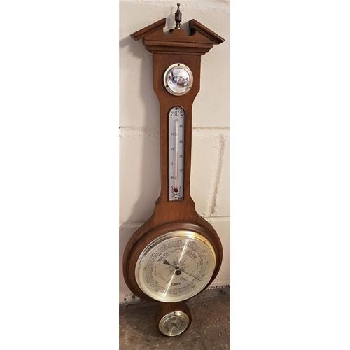 525 - Wall Barometer, c.28.5in long...