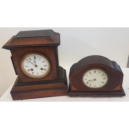 537 - Two Mahogany Cased Mantle Clocks...