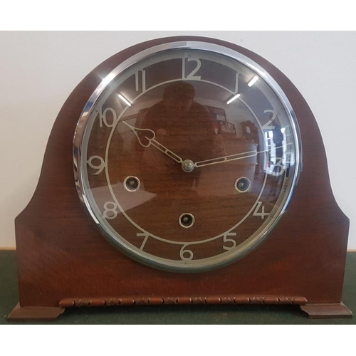 539 - 'Smith' Mantle Clock with a Key and Pendulum (working)...
