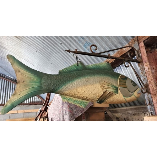 34 - Hanging Fish Sign - 40 x 28ins...