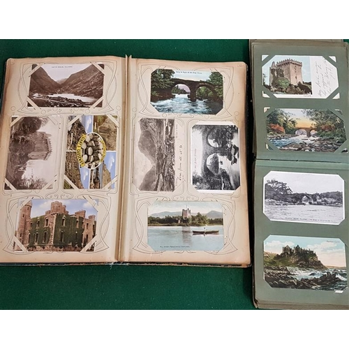 32 - Two postcard albums with a selection of vintage Irish cards...