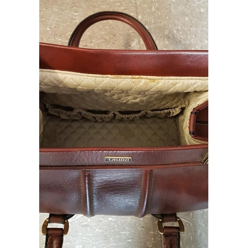 17A - Leather Lady's Travelling Bag by Tauro...