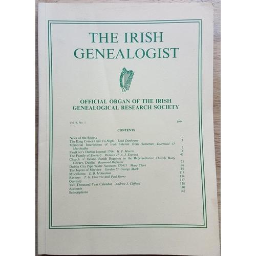 27 - <em>Irish Genealogist</em> - periodicals, 1978- 2002, c.18 issues...