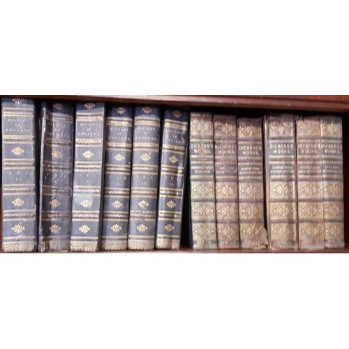 6 - <em>'History of England</em>' (5 Volumes); '<em>Dickens' Works'</em> (6 Volumes); '<em>Popular Encyc...