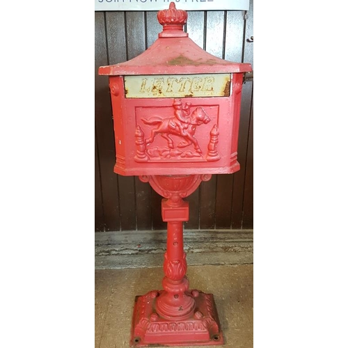12 - Cast Iron Standing Post Box...