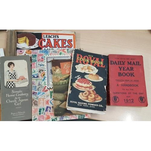 26 - <em>Mackintosh's</em> Tin, Stamp Album,<em> Daily Mail Year Book</em>, 3 Cookery Pamphlets and <em>'...