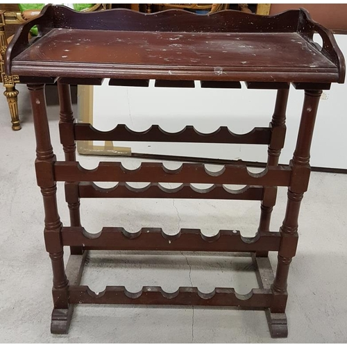 44 - Freestanding Wine Rack - c. 28 x 36ins...