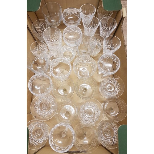 48 - Box and Contents to include Waterford Crystal Champagne Glasses, etc....