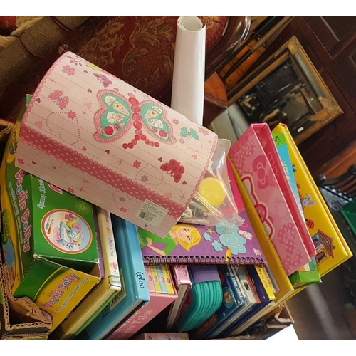 53 - Two Boxes and Contents to include Toys, Books, etc....