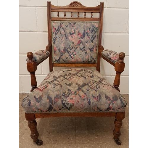 80 - Edwardian Parlour Chair...