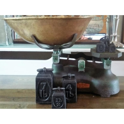 88 - Vintage Grocer's Scales and Weights...