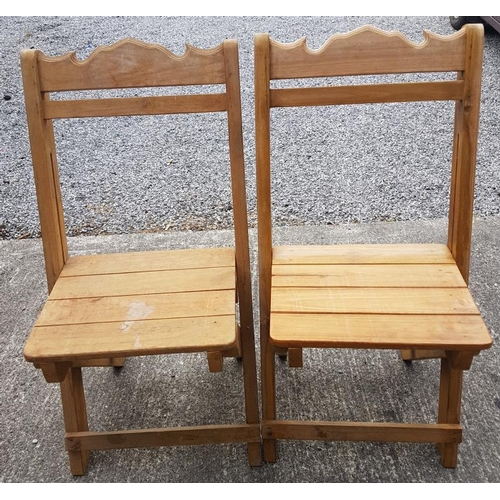 121 - Set of Eight Foldable Wooden Garden Chairs...