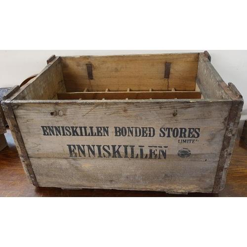 133 - <em>Enniskillen Bonded Stores Limited, Enniskillen</em> Wooden Bottle Crate...
