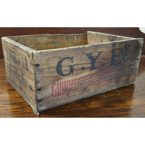 135 - <em>GYE (Guinness Yeast Extract)</em> Wooden Jar Crate...