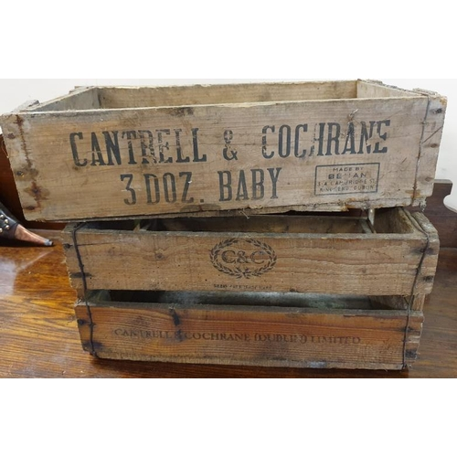 136 - Two Cantrell & Cochrane Wooden Bottle Crates...