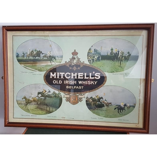 151 - 'Mitchell's Old Irish Whisky, Belfast' Framed Original Print - 32 x 22.5ins...